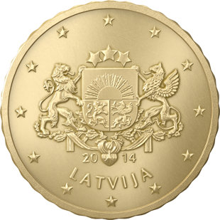 Latvia 10 Euro Cents
