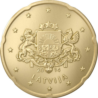 Latvia 20 Euro Cents